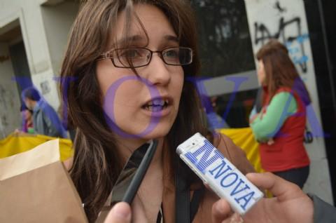 La Asamblea de Tolosa pide ser querellante dentro de la causa por la tr�gica inundaci�n en La Plata. La abogada de la Asamblea de Tolosa Aidin �lvarez.(Foto: NOVA).