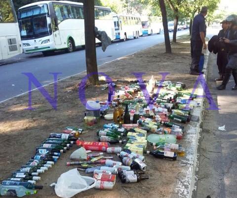 Secuestraron armas, alcohol y pirotecnia en micros de Estudiantes y Gimnasia. Como resultado de este accionar, fue hallada y secuestrada gran cantidad de alcohol, como as� tambi�n pirotecnia y cerca de un centenar de cuchillos, aunque no se encontraron armas de fuego.