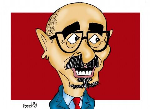 """Melzi: """"Voy a trabajar fuertemente sobre la igualdad de derechos"""". Carlos Melzi, precandidato a intendente de La Plata por el massismo. (Dibujo: NOVA)"""