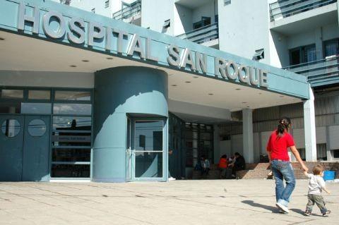 Abandonaron a una beba en el ba�o del Hospital San Roque de Gonnet. Hospital bonaerense San Roque de Gonnet.