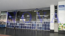 Paro total: as� luc�a la sede central de IOMA ubicada en calle 46 entre 12 y 13. (Foto: NOVA).