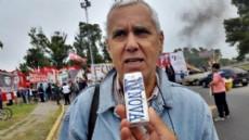 Guillermo Garc�a, uno de los referentes de la movilizaci�n y secretario general adjunto de SUTEBA La Plata. (Foto: NOVA).