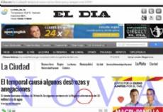 El temporal de lluvia y agua, no solo provoc� destrozos en la ciudad, sino que en el diario El D�a provoc� una burrada m�s grande que una casa (Foto: NOVA).