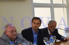AERI festejo sus 54 a�os de vida en una conferencia que brind� su Secretario General, Jorge Baldovino junto al Intendente de La Plata, Pablo Bruera (Foto: NOVA).