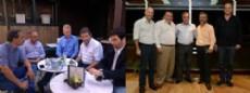 Jos� Arteaga y Francisco De Narv�ez por un lado, y Javier Pacharotti y Jes�s Cariglino por el otro (Fotomontaje: NOVA).