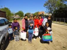 La Red Social Solidaria �Nivelar� pudo realizar una nueva donaci�n de harina, az�car y ropa.