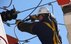 Los trabajos se realizan preservando siempre la seguridad tanto del personal como de los vecinos.
