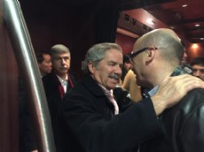 Carlos Melzi junto a Felipe Sol�.