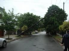Tendido da�ado por la tormenta en 4 entre 77 bis y 78, Villa Elvira.