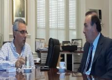 Vaudagna fue recibido en audiencia privada por el jefe comunal,  Julio C�sar Zamora, en el Palacio Municipal de Tigre.