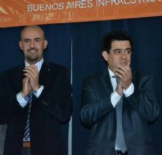 Fabi�n Stachiotti junto al ministro Alejandro Arl�a.