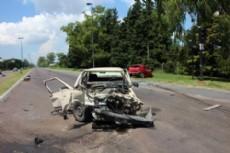Sucedi� en la esquina de Camino Centenario y 493, cuando un Fiat Duna fue impactado por un Ford Fiesta que circulaba por la arteria principal.
