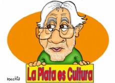 """Jes�s Mar�a """"Tito"""" Plaza, precandidato a intendente de La Plata. (Dibujo: NOVA)"""