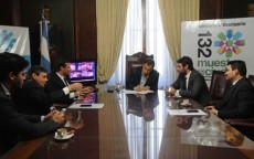 El intendente Pablo Bruera firm� un convenio de cooperaci�n institucional con el presidente del Colegio de Abogados de La Plata, Fernando Levene.
