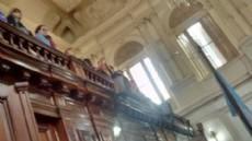 S�ptimo plenario del a�o parlamentario. Homenajes y pocos expedientes tratados.