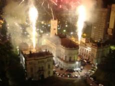 Los fuegos artificiales, gran atracci�n luego del recital de NTVG. (Foto: NOVA)