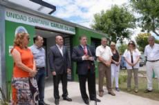 Collia inaugur� la unidad sanitaria �Carlos Cajade�.