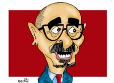 Carlos Melzi, precandidato a intendente de La Plata por el massismo. (Dibujo: NOVA)