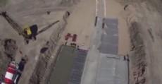 Uno de los trabajos m�s importantes es el nuevo muro de contenci�n que se est� construyendo.
