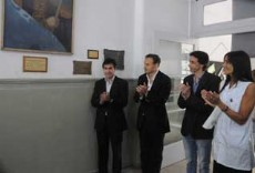 El intendente de La Plata, Pablo Bruera, particip� del 125� Aniversario de la Escuela N� 31.