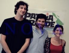 Leandro Amoretti, Clara Condenanza y Nicol�s Triv�n referentes del Movimiento Popular Patria Grande en La Plata. (Foto: NOVA).