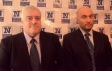 El profesor Juan Carlos Hugo P�rsico, director del Centro de Estudios Italianos de la UNLP (izquierda), junto al c�nsul italiano y licenciado en Econom�a Iacopo Foti (derecha). (Foto: NOVA).