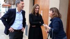 Mauricio Macri  arrib� este martes a la ciudad acompa�ado por la pre-candidata a gobernadora Mar�a Eugenia Vidal y recorrieron la zona de 18 y 58.
