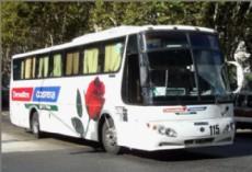 Dos colectivos de la empresa Costera, que descend�a en diagonal 74 y 120, proveniente de Capital Federal por la autopista La Plata-Buenos Aires fueron atacados a piedrazos.