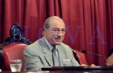 El exjuez de la Corte Suprema de Justicia Eugenio Ra�l Zaffaroni junto a la senadora provincial por Nuevo Encuentro M�nica Macha dieron una charla sobre la inclusi�n social de presidiarios. (Foto: NOVA).