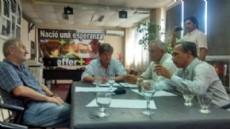 Carballo, C�li, Arteaga y Scheffer se reunieron en Ensenada.
