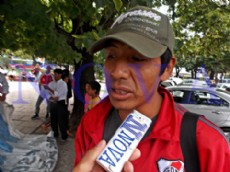 Roberto Solano, presidente de ASOMA. Trabajadores rurales se cansaron de las promesas incumplidas y salieron a la calle a reclamar. (Foto: NOVA).