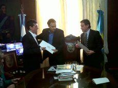 Fabi�n Lugli, H�ctor Rossi y Pablo Bruera.