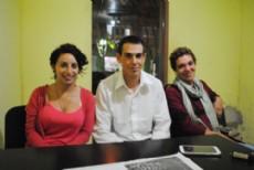 Ver�nica �lvarez, Fausto Horton y Andrea Gerger, promotores de ANSES en Punta Indio.