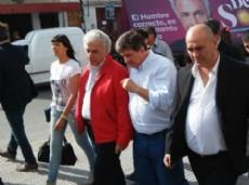 Walter Scheffer acompa�� a Jos� Manuel de la Sota en la recorrida por Ensenada.