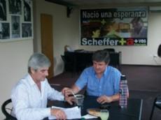 Daniel Bolinaga y Walter Scheffer.