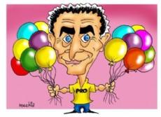 La representaci�n de Mauricio Macri en La Plata se ve condicionada por lo que ocurre a nivel nacional. (Dibujo: NOVA)